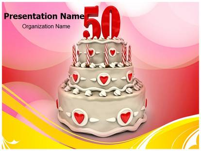 50th wedding anniversary powerpoint template background, Modern powerpoint