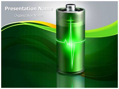 Aaa Battery Energy Powerpoint Template Background Subscriptiontemplates Com