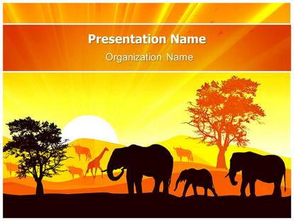African wildlife powerpoint template background 1g toneelgroepblik Gallery