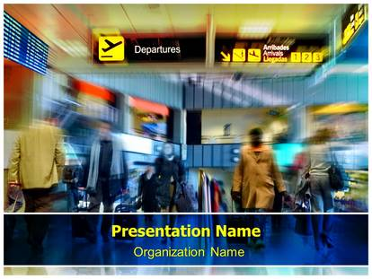 airport powerpoint template background | subscriptiontemplates, Modern powerpoint