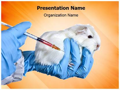 animal testing powerpoint template background, Modern powerpoint