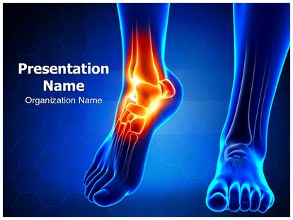 Ankle joint powerpoint template background subscriptiontemplates 1g toneelgroepblik Gallery