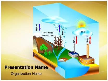 Atmosphere pollution acid rain powerpoint template background 1g toneelgroepblik Choice Image