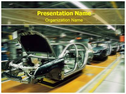 Automotive Industry PowerPoint Template Background