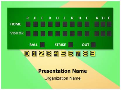 Baseball Scorecard Powerpoint Template Background