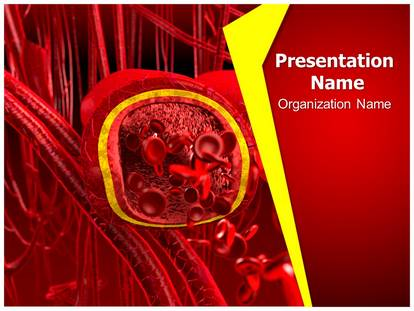 blood arteries and veins powerpoint template background, Modern powerpoint