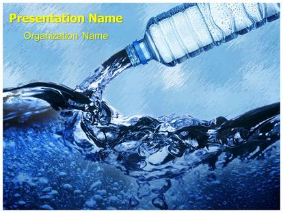Bottled Water Powerpoint Template Background