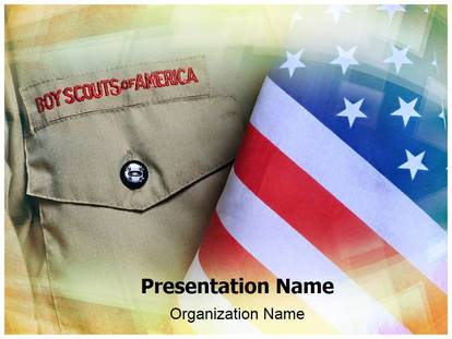 Boy scouts powerpoint template background for Cub scout powerpoint template