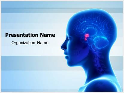 Brain pituitary gland powerpoint template background 1g toneelgroepblik Images