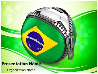 brazil football powerpoint template background, Presentation templates