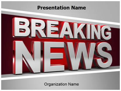 Breaking News Powerpoint Template Background