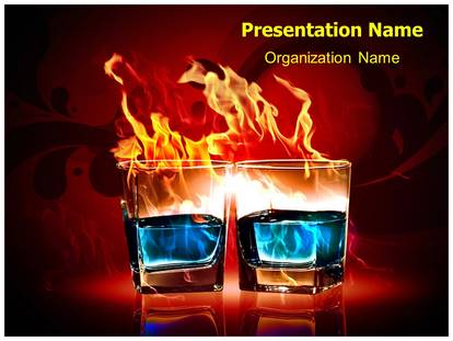 Burning Alcohol Powerpoint Template Background