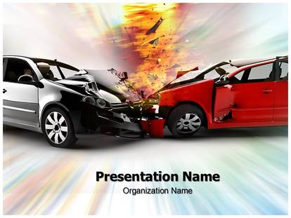 car accident powerpoint template background. Black Bedroom Furniture Sets. Home Design Ideas