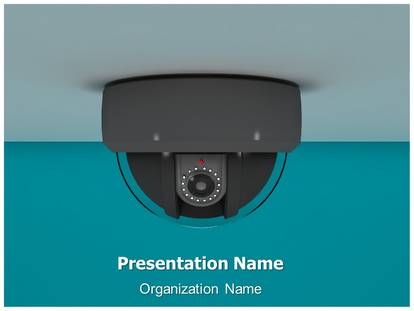 cctv camera powerpoint template background | subscriptiontemplates, Presentation templates