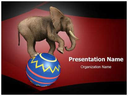 Circus Elephant Powerpoint Template Background