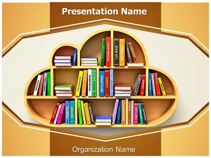 cloud library powerpoint template background, Presentation templates