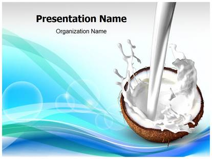 Coconut and milk powerpoint template background 1g toneelgroepblik Image collections