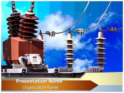 Connections power lines powerpoint template background 1g toneelgroepblik