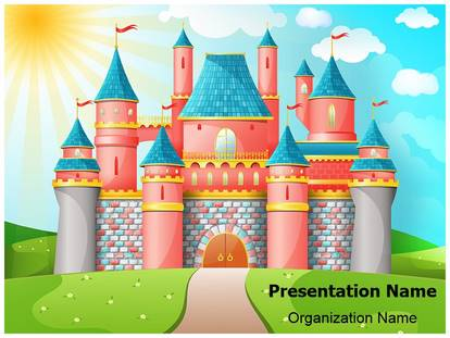 Disney castle powerpoint template background for Fairy tale powerpoint template free download