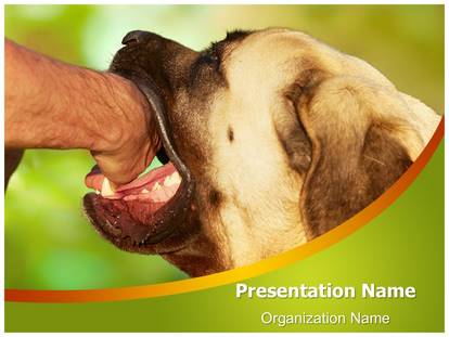 dog bite powerpoint template background | subscriptiontemplates, Modern powerpoint