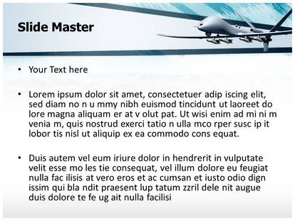 Drone aircraft powerpoint template background 1g 2g toneelgroepblik Choice Image