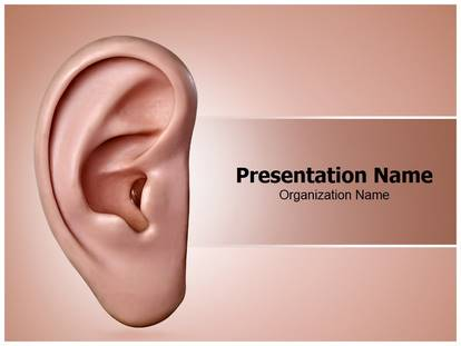 ear powerpoint template background | subscriptiontemplates, Powerpoint templates