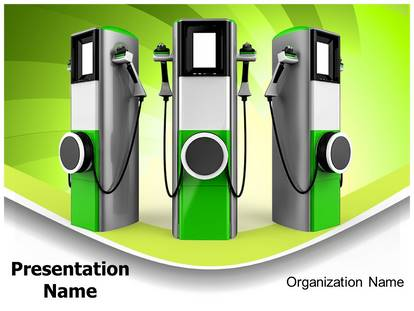 Electric Car Charging Station Powerpoint Template Background