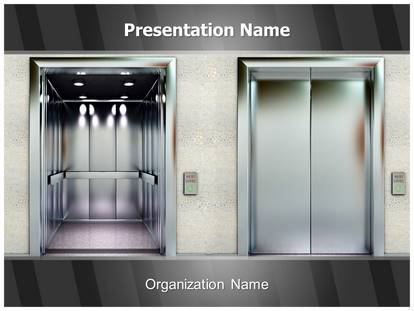 Elevator PowerPoint Template Background | SubscriptionTemplates.com