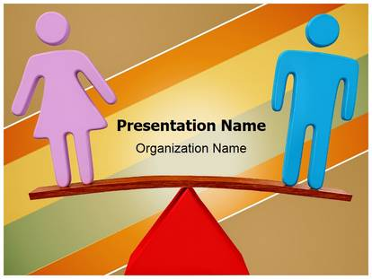 Equality gender balance powerpoint template background 1g toneelgroepblik Image collections