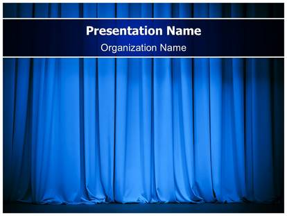event theater stage powerpoint template background, Presentation templates