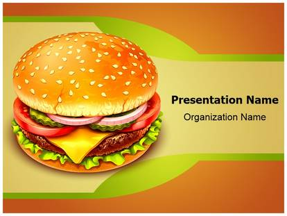 Fast Food Hamburger Powerpoint Template Background
