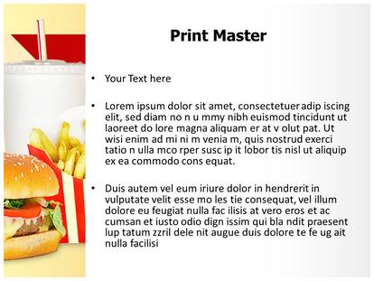 fast food mcdonalds powerpoint template background, Powerpoint