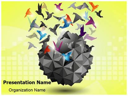 Freedom origami powerpoint template background 1g toneelgroepblik Image collections