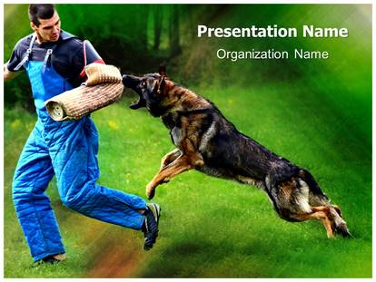 german shepherd k9 training powerpoint template background