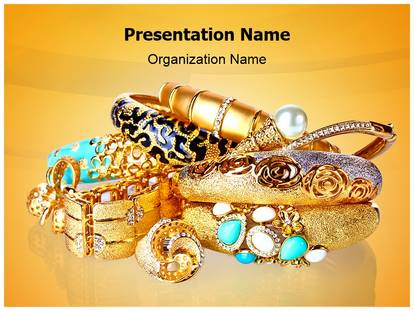 gold jewellery powerpoint template background, Templates
