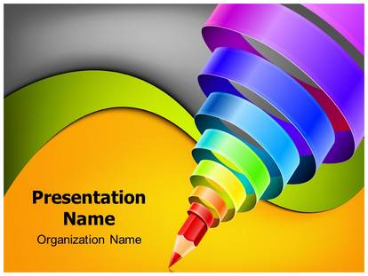 Graphic Design Education Powerpoint Template Background