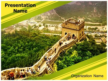 Great Wall Of China Powerpoint Template Background