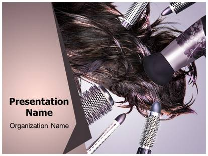 Hair Style Powerpoint Template Background