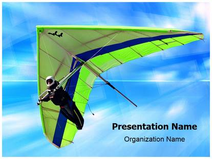 Hang Gliding PowerPoint Template Background