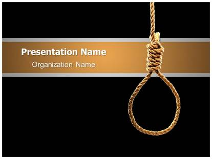 hangmans knot powerpoint template background, Presentation templates