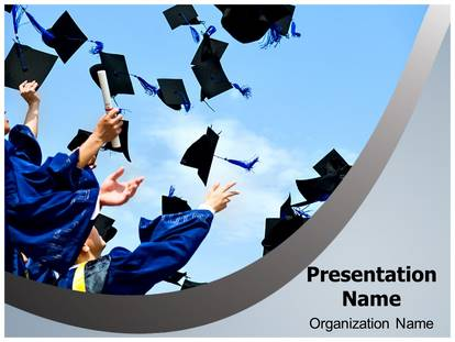 high school graduation powerpoint template background, Modern powerpoint