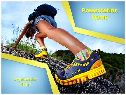 hiking shoes powerpoint template background, Presentation templates