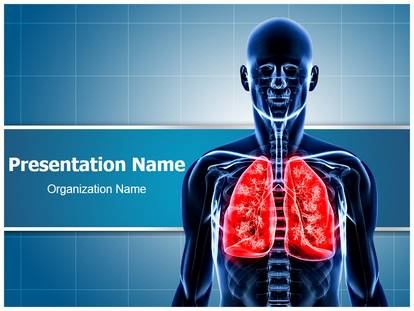 Human lungs powerpoint template background subscriptiontemplates 1g toneelgroepblik Gallery