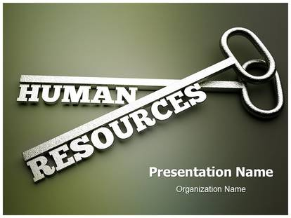 human resource management key powerpoint template background, Powerpoint templates