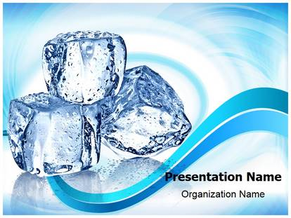 ice cubes powerpoint template background | subscriptiontemplates, Modern powerpoint