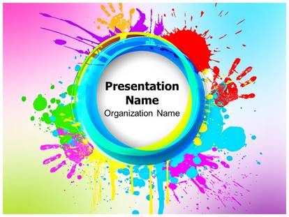 india holi festival powerpoint template background, Modern powerpoint