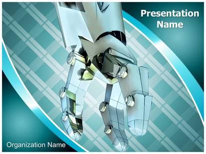 industrial robot powerpoint template background, Powerpoint templates