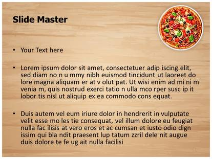 Italian Pizza Powerpoint Template Background Subscriptiontemplates