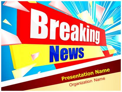 Journalism Breaking News Powerpoint Template Background