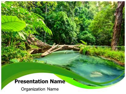 Jungle green powerpoint template background subscriptiontemplates 1g toneelgroepblik Image collections